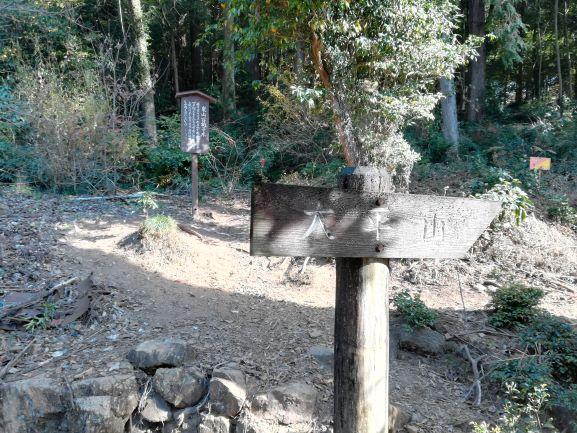 太平山への標識