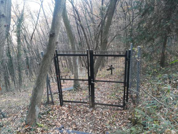 ゲートが閉まっている