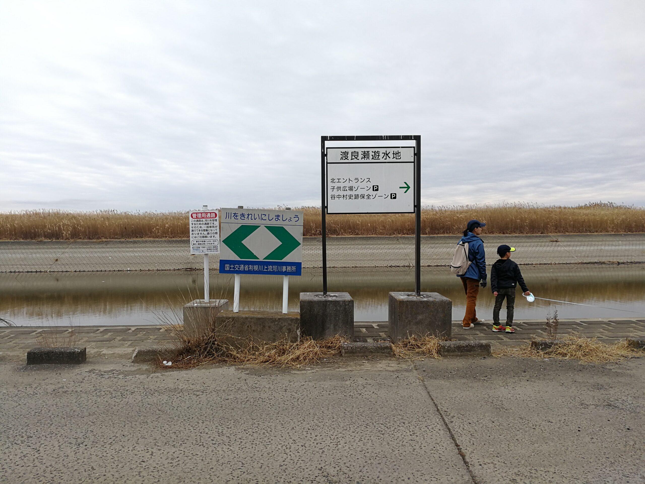 渡良瀬遊水地への看板